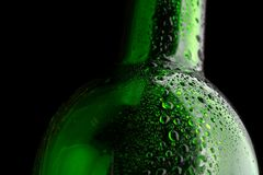 Glass bottle closeup Royalty Free Stock Photography