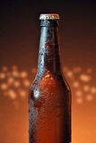 Glass and bottle of cold beer Stock Image