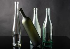Glass, The Bottle, Composition Stock Image