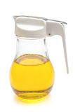 Glass bottle of cooking oil Stock Photos