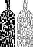 Glass bottle design. Vector illustration of glass bottle design Royalty Free Stock Photos