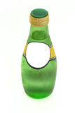 Glass bottle with empty label Royalty Free Stock Images