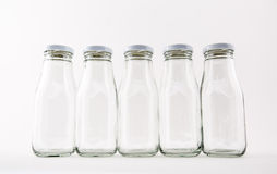 The glass bottle empty Stock Image