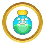Glass bottle of green poison vector icon Royalty Free Stock Image
