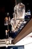 Glass Bottle Lamp. Creative Glass Bottle Lamp Design in a dinning restaurant Stock Image