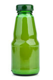 Glass bottle with lime juice Stock Photos