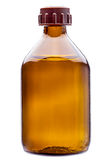 Glass bottle for a medicinal preparation. Stock Photography