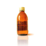 Glass bottle of medicine Stock Photo