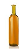 Glass bottle with muskat wine Royalty Free Stock Image