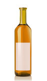 Glass bottle with muskat wine Stock Image