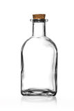Glass Bottle. Old Glass bottle isolated on white Stock Photography