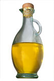 Glass bottle with olive oil Royalty Free Stock Image