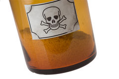 Glass bottle of poison Royalty Free Stock Images