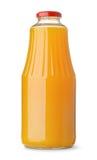 Glass bottle of pumpkin juice Stock Image