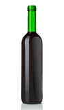 Glass bottle with red wine Royalty Free Stock Photo