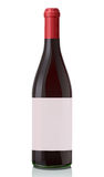 Glass bottle with red wine. Stock Photography