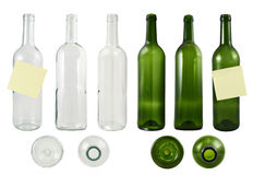 Glass bottle set isolated Stock Photos