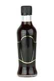 Glass bottle with soy sauce Royalty Free Stock Photos