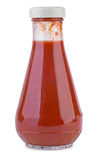 Glass bottle with tomato ketchup Stock Photography
