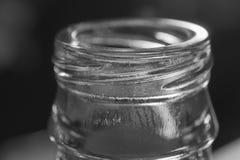 Glass bottleneck black and white background. Bottleneck black and white background royalty free stock photos