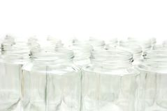 The glass bottles. Decor on cleaning empty glass bottles Stock Photography