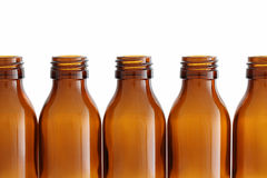 Glass bottles. Isolated on white background Stock Photos