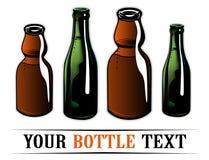 Glass bottles Stock Photos
