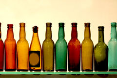 Glass bottles. Royalty Free Stock Photos