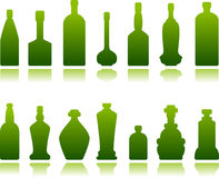Glass bottles Stock Photography