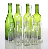 Glass bottles Royalty Free Stock Photos