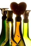 Glass bottles. Four different glass bottles Royalty Free Stock Image