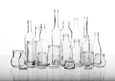 Glass bottles royalty free stock images