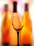 Glass And Bottles Abstract Background Royalty Free Stock Image