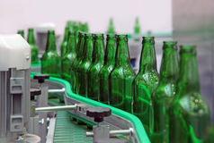 Glass bottles for beer Royalty Free Stock Photo