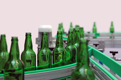 Glass bottles for beer Royalty Free Stock Photography