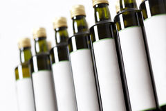 Glass bottles with blank label. Stock Images