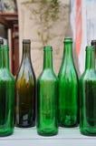 Glass  bottles. Bunch of empty glass  bottles Stock Image