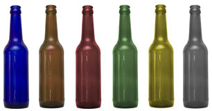 Glass bottles with clipping patch. Es included Royalty Free Stock Photography