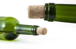 Glass bottles with  corks Stock Image