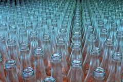 Glass bottles empty texture royalty free stock photo