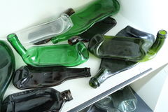 Glass Bottles Flat Royalty Free Stock Photography