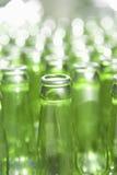 Glass bottles. Group of green glass bottles stock images
