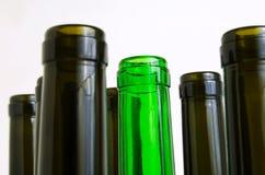 Glass bottles for industrial utilization. Empty glass bottles for industrial disposal Stock Photography