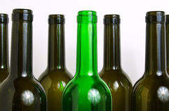 Glass bottles for industrial utilization. Royalty Free Stock Photography