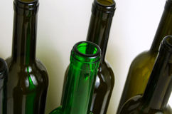 Glass bottles for industrial utilization. Empty glass bottles for industrial disposal Royalty Free Stock Photo