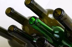Glass bottles for industrial utilization. Stock Photography