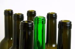 Glass bottles for industrial utilization. Empty glass bottles for industrial disposal Stock Images
