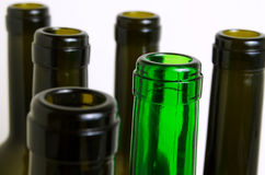 Glass bottles for industrial utilization. Empty glass bottles for industrial disposal Royalty Free Stock Image