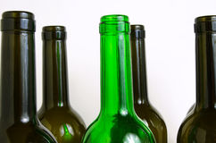 Glass bottles for industrial utilization. Empty glass bottles for industrial disposal Royalty Free Stock Photos
