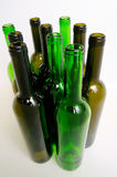 Glass bottles for industrial utilization. Empty glass bottles for industrial disposal Royalty Free Stock Images